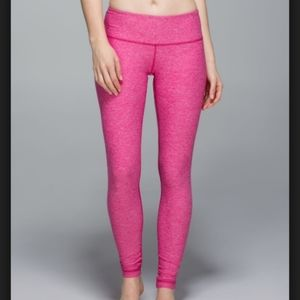 Lululemon Wunder Under Pant Pink